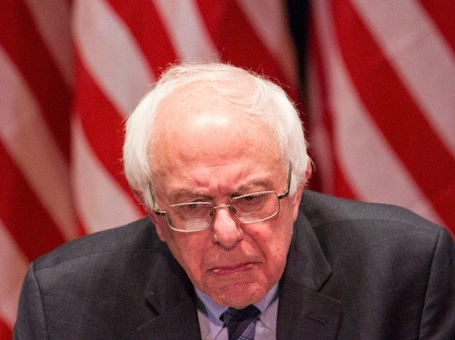 NEW YORK, NY - JANUARY 05: Democratic presidential candidate Sen. Bernie Sanders (I-VT) outlines his plan to reform the U.S. financial sector on January 5, 2016 in New York City. Sanders is demanding greater financial oversight and greater government action for banks and individuals that break financial laws. (Photo by …
