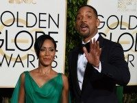 Jada Pinkett Smith, and Will Smith arrive for the 73nd annual Golden Globe Awards, January 10, 2016, at the Beverly Hilton Hotel in Beverly Hills, California. AFP PHOTO / VALERIE MACON / AFP / VALERIE MACON (Photo credit should read VALERIE MACON/AFP/Getty Images)