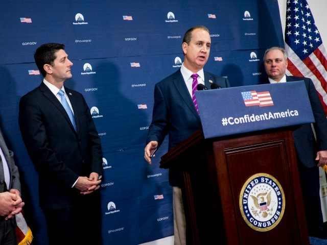 WASHINGTON, DC - January 12:  Rep. Mario Diaz -Balart (R-FL) speaks to reporters following the weekly House GOP Conference meeting at the U.S. Capitol on January 12, 2016 in Washington, DC. Rep. Diaz -Balart will give the Spanish response to President Obama's last State Of The Union address.  (Photo by Pete Marovich/Getty Images)
