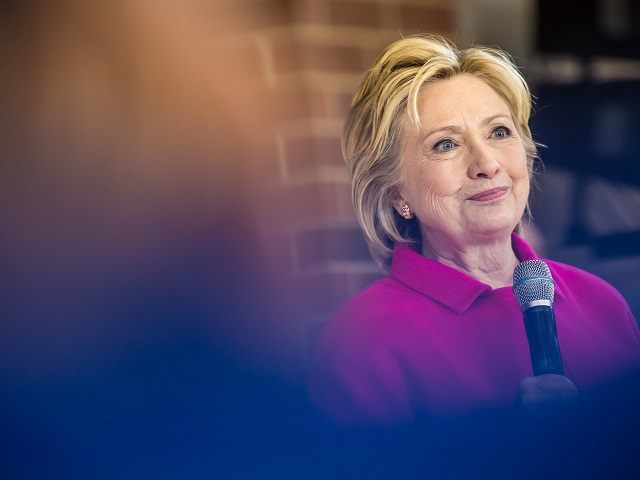 CLINTON, IOWA - JANUARY 23: Democratic presidential candidate Hillary Clinton speaks at a campaign organizing event at Eagle Heights Elementary on January 23, 2016 in Clinton, IA. The Democratic and Republican Iowa Caucuses, the first step in nominating a presidential candidate from each party, will take place on February 1. …