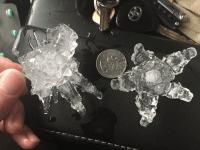 Hailstones (US National Weather Service Sacramento California / Facebook)