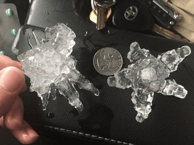Hailstones (US National Weather Service Sacramento California / Facebook)