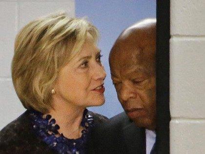 Hillary Clinton John Lews (David Goldman / Associated Press)
