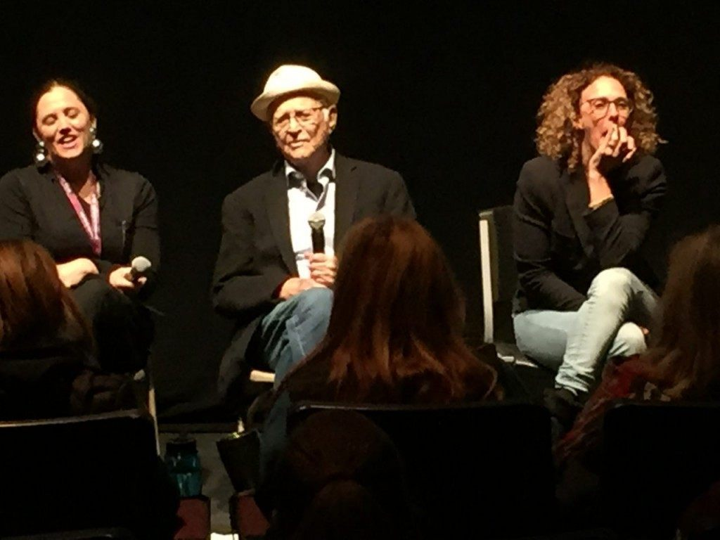 Heidi Ewing, Norman Lear, and Rachel Grady at a Q&A following the movie screening at the Sundance Film Festival. (Photo: Breitbart Texas/Lana Shadwick)