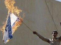 israeli flag burning