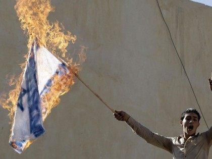israeli flag burning