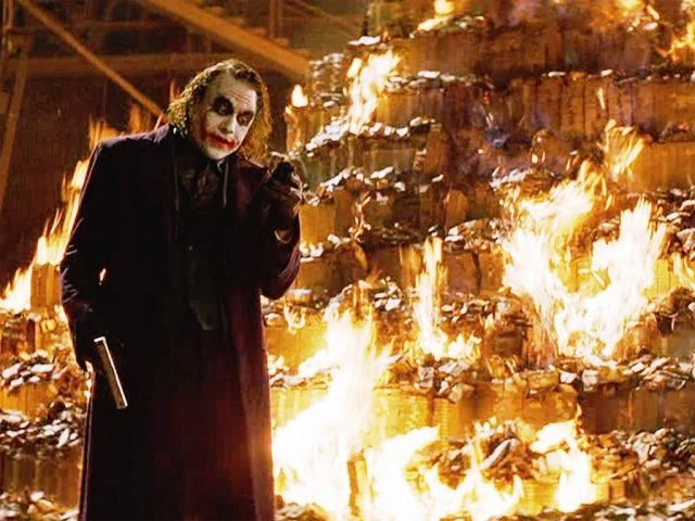 Joker-Burning-Money