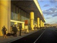 John F, Kennedy Airport at sunset, New York City, NY )