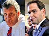 Christie (L) and Rubio