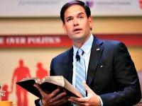 Marco Rubio with Bible AP Nati Harnik