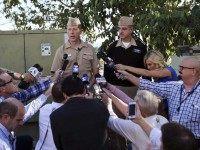 Navy shooting false alarm (Lenny Ignelzi / Associated Press)
