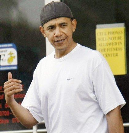Obama Backwards Cap Hawaii AP AFP Getty