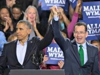 Obama and Malloy AP PHOTOJOHN MINCHILLO