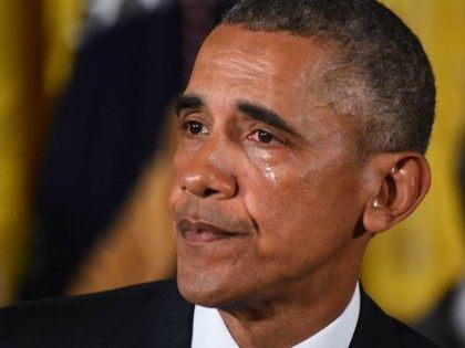 President Obama cries while announcing gun control measures, Jan. 5, 2017