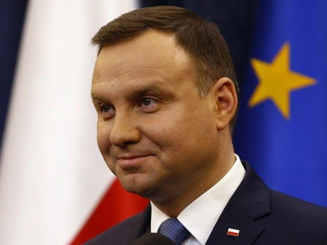 Poland's President Andrzej Duda speaks during his announcement at Presidential Palace in Warsaw, Poland December 28, 2015. REUTERS/Kacper Pempel
