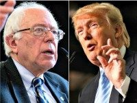 Trump, Sanders Populism Catches Fire with Voters in New Hampshire