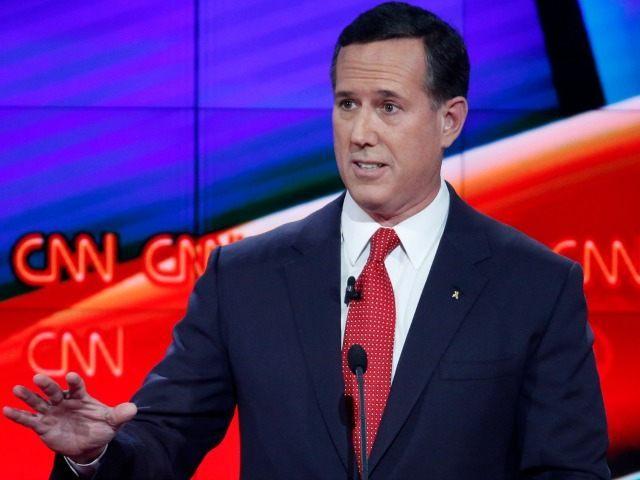 Rick Santorum speaks during the CNN Republican presidential debate at the Venetian Hotel & Casino on Tuesday, Dec. 15, 2015, in Las Vegas.