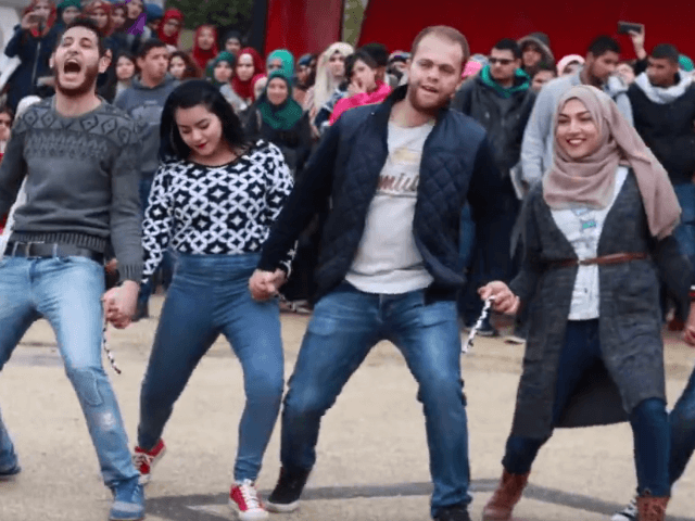 Palestinian university debka dance