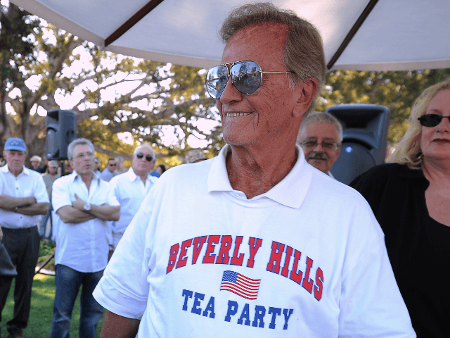 Singer Pat Boone attends a Tea Party