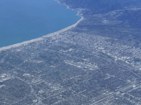 Santa Monica from the air (Joel Pollak / Breitbart News)