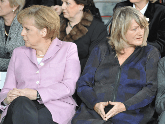 Angela Merkel and feminist publisher Alice Schwarzer