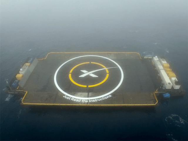 SpaceX drone ship (SpaceX / Twitter)