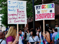 Transgender LGBT gender protest