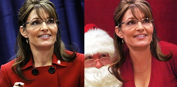 RedState's photoshopped image side-by-side with the real image.