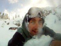 Snowboard avalanche (Screenshot : Christian Michael / YouTube)