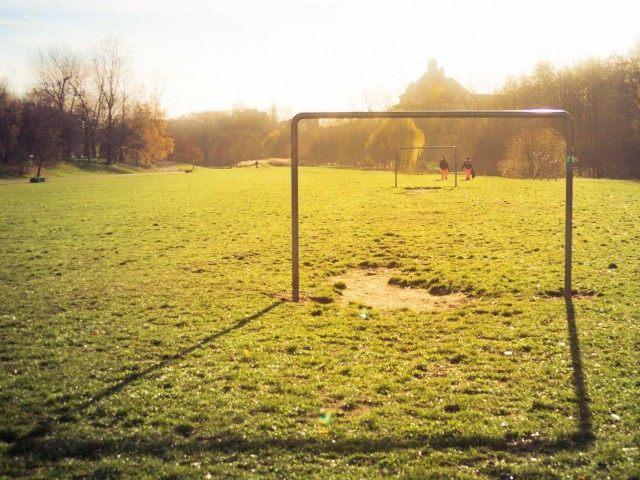 Soccer goal (Alexander Mueller / Associated Press)