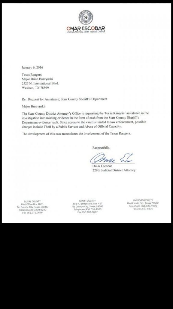 Starr County Letter