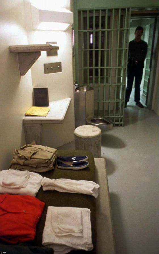 Inmate isolation cell. (AP File Photo)