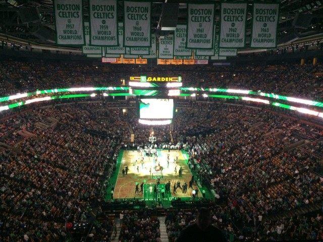 TD Garden Celtics Banners