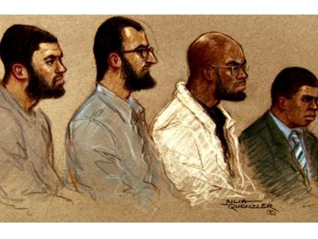 Tarik Hassane, Suhaib Majeed, Nyall Hamlett and Nathan Cuffy Artist's Sketch