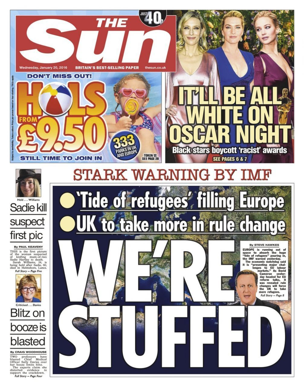 The Sun front page Stuffed