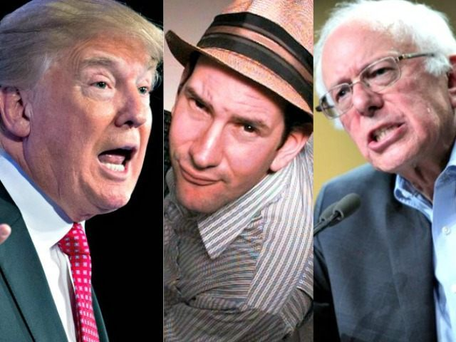 Trump, Drudge, Sanders AP Photos