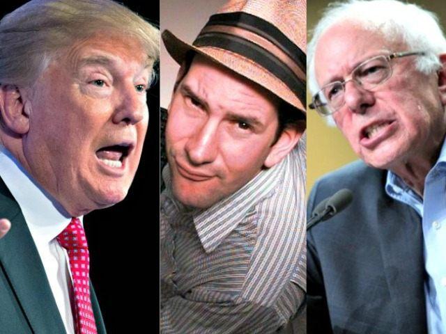 Trump, Drudge, Sanders AP Photos