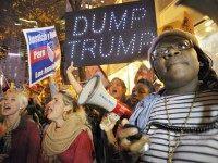 Trump Protesters AP