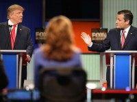 Trump versus Cruz (Scott Olson / Getty)