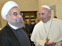 Vatican-Pope-Iran Rouhani Andrew Medichini AP