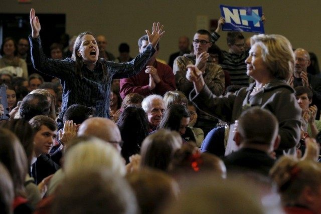 Woman Confronts Hillary REUTERSBrian Snyder