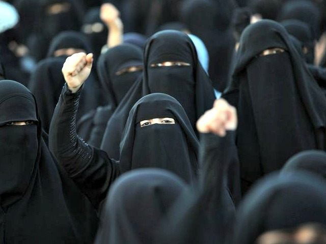 Women Protest in Hijab AFP