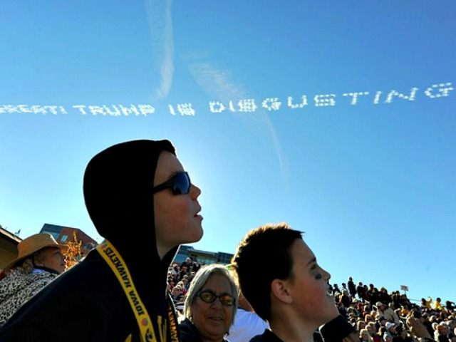 Exclusive: Anti-Trump Skywriting Campaign Blocked at College Football Championship
