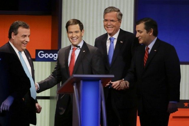 Chris Christie, Marco Rubio, Jeb Bush, Ted Cruz