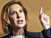 carly fiorina finger to sky AP