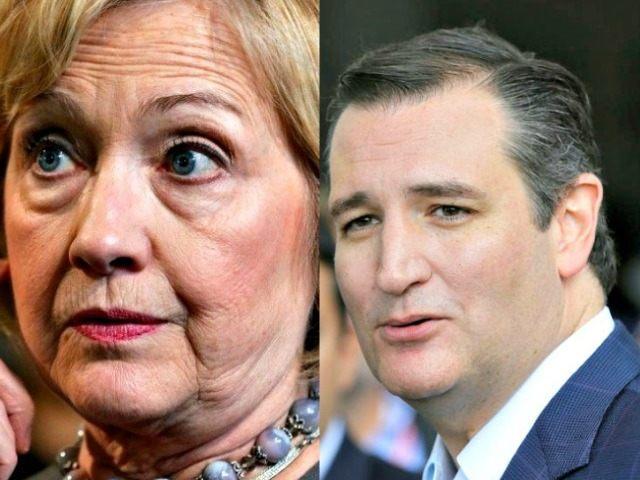 hillary-clinton and Ted Cruz AP Photos