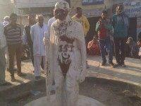 Gandhi statue in India defaced with Islamic State propaganda