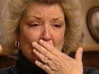[NBC CLINTON BROADDRICK]  Headline: BROADDRICK  Caption: Juanita Broaddrick tries to hold back tears during her  January 1999 interview on 'Dateline NBC,' in which she discusses  her claim of a 1978 sexual assault by Bill Clinton. The inteview  aired Wednesday, Feb. 24, 1999, less than a week after the  Arkansas woman's claim hit the newsstands. (AP Photo/Dateline NBC)   Title: TEL  Credit: AP  Country: USA  Date: 19990224  ObjectName: NBC CLINTON BROADDRICK  CaptionWriter: SAB ADJ  Special: TV OUT; IMAGE FROM TELEVISION  Category: A  Source: DATELINE NBC  Keyword: NBCCLINJ.JPG