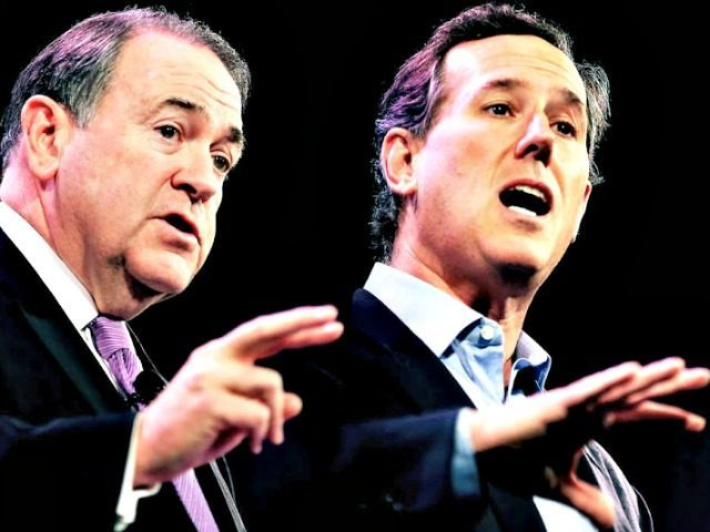 mike-huckabee-rick-santorum Scott Olson Getty