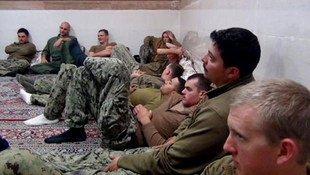 Detained Navy soldiers in Iran